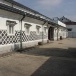 "A traditional white-walled sake brewery, or ""sakagura"""